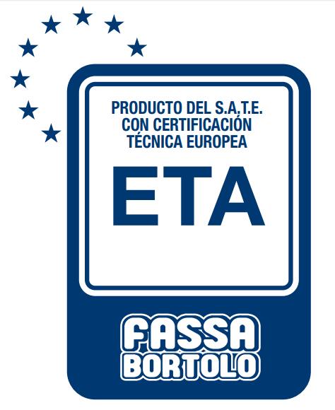 Certificado Técnica Europea ETA para SATE de Fassa