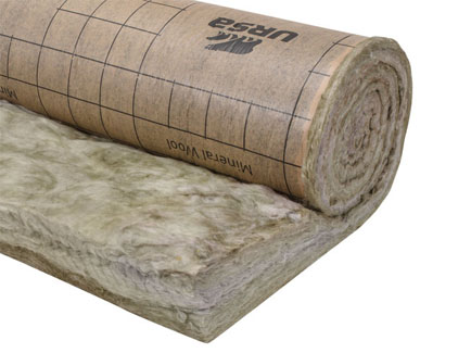 Manta aislante de lana mineral URSA TERRA papel MRK 40