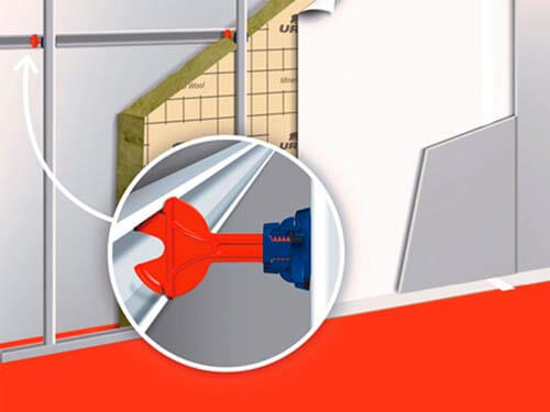 Accesorios ursa para instalar panales y placas de yeso laminado