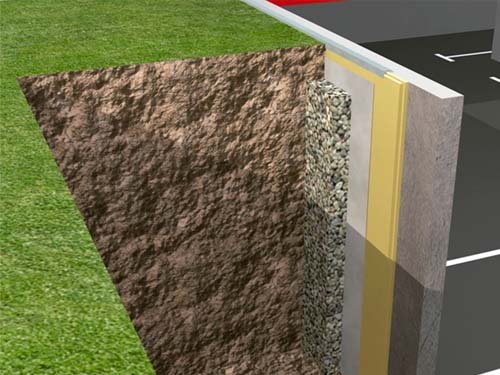 Sistema de aislamiento térmico en muros enterrados con xps