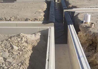 Colocación de paneles xps en muros enterrados