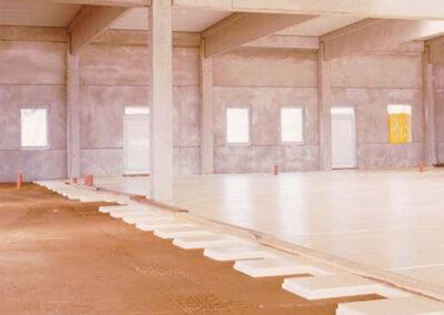 Paneles xps colocados para aislar el suelo