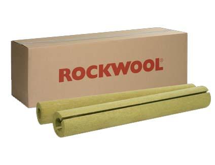 Coquilla de lana de roca para tuberías