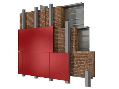 aislamiento fachada metálica con paneles rockpanel