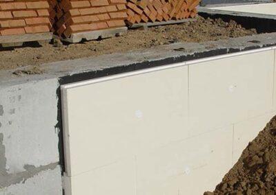 Instalación de paneles xps en muros enterrados