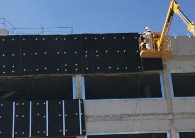 Ejemplo de instalación de fachada ventilada URSA