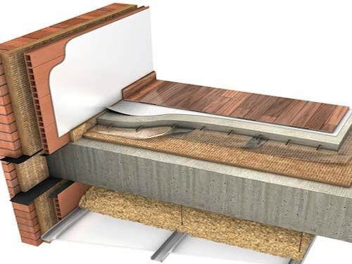 Aislamiento mediante insuflado de suelos y techos