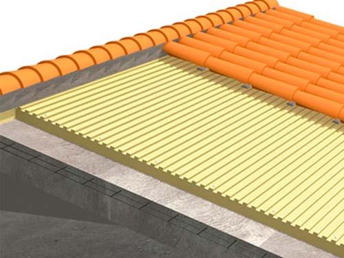 Sistema de aislamiento para cubiertas con paneles ursa xps