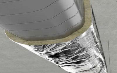 Aislamiento por el exterior de conductos de climatización