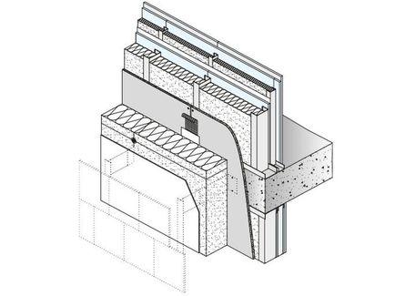 Sistema para Fachada Knauf Aquapanel WM411C.ES