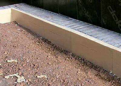 Proceso de colocación de los paneles xps bajo la cimentación