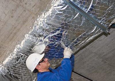 montaje aislamiento exterior de conductos de climatización ursa air