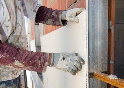 Colocación de los paneles xps de ursa para sistema sate