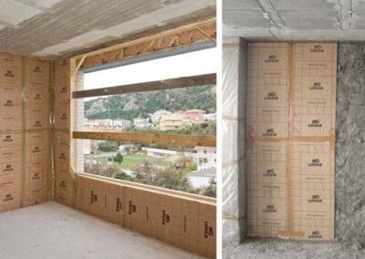 Instalación del sistema de aislamiento intermedio de fachadas URSA