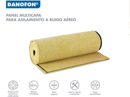 Panel para el aislamiento acústico Danofon